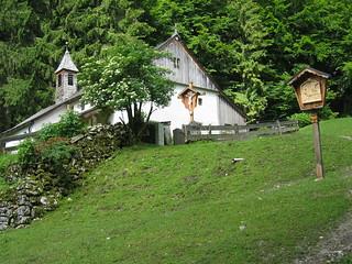 Einsiedelei Maria Blut, a steep climb up from the town