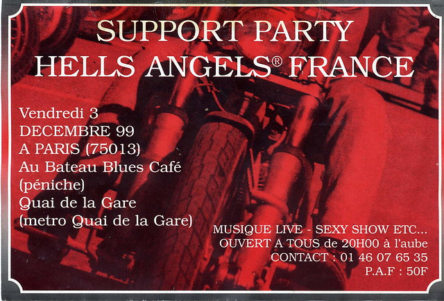 Hells Angels | Paris support party flyer  www deadlicious co