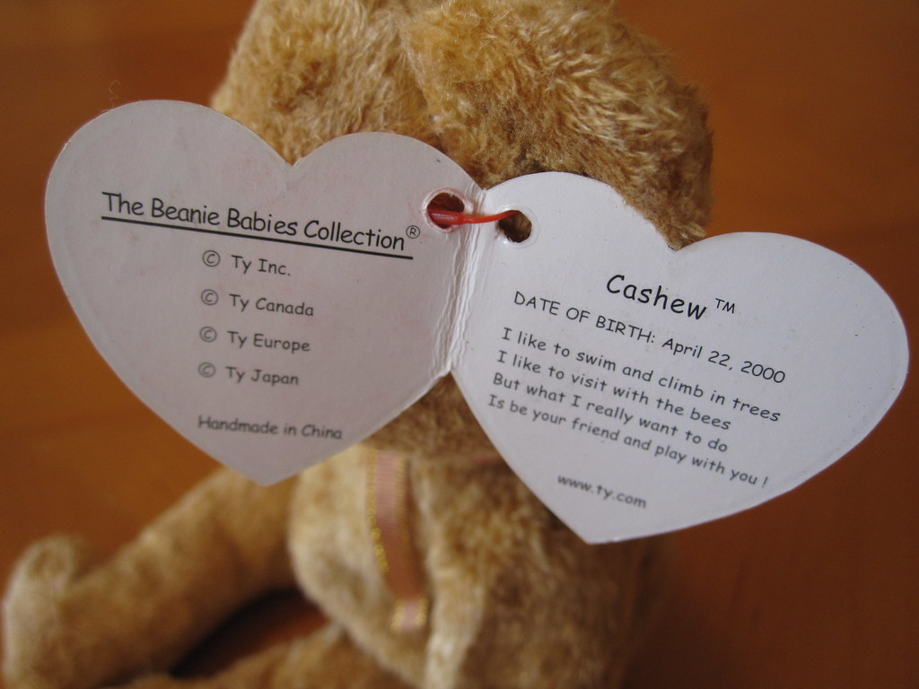 abd9513d94d ... jessicagreen0202 Ty Cashew Beanie Baby Hang Tag