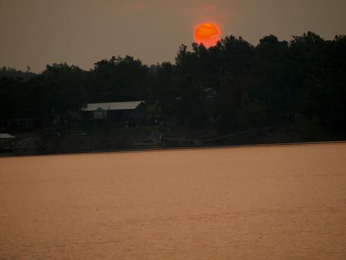 usa sun lake nature water sunrise ok eufaulalake pynok