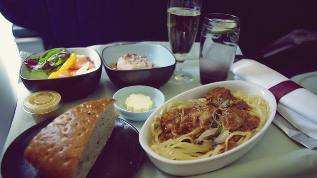 Business Class Inflight Meal - Cathay Pacific