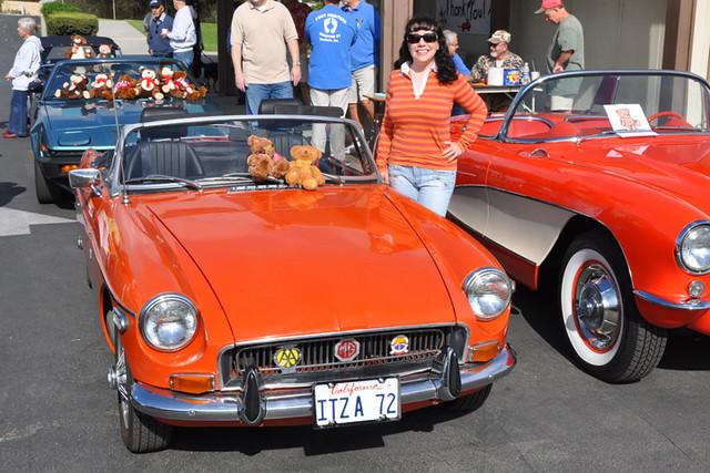 Michelle-orange car