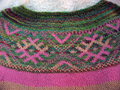 Yoke Pullover detail | by knottygnome