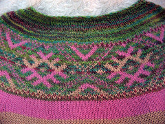 Yoke Pullover detail | by knottygnome