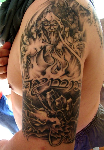 wizard dragon tattoo