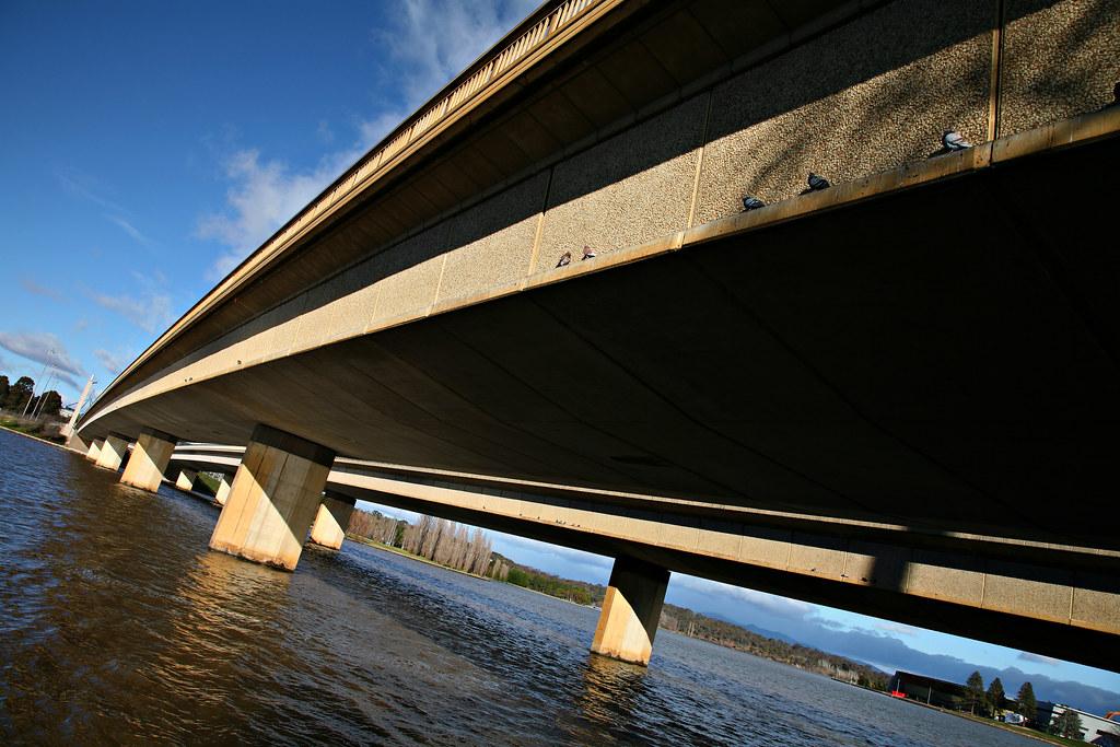 Image: Sitting on the Commonwealth Avenue Bridge