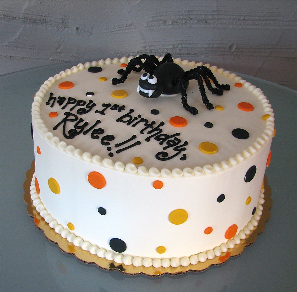 Pleasant Halloween Birthday Cake This Is A Halloween Themed Birthda Flickr Funny Birthday Cards Online Fluifree Goldxyz