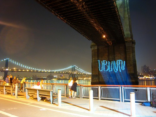 Ubuntu on the Brooklyn Bridge (courtesy G.R.L.) | by urban_data