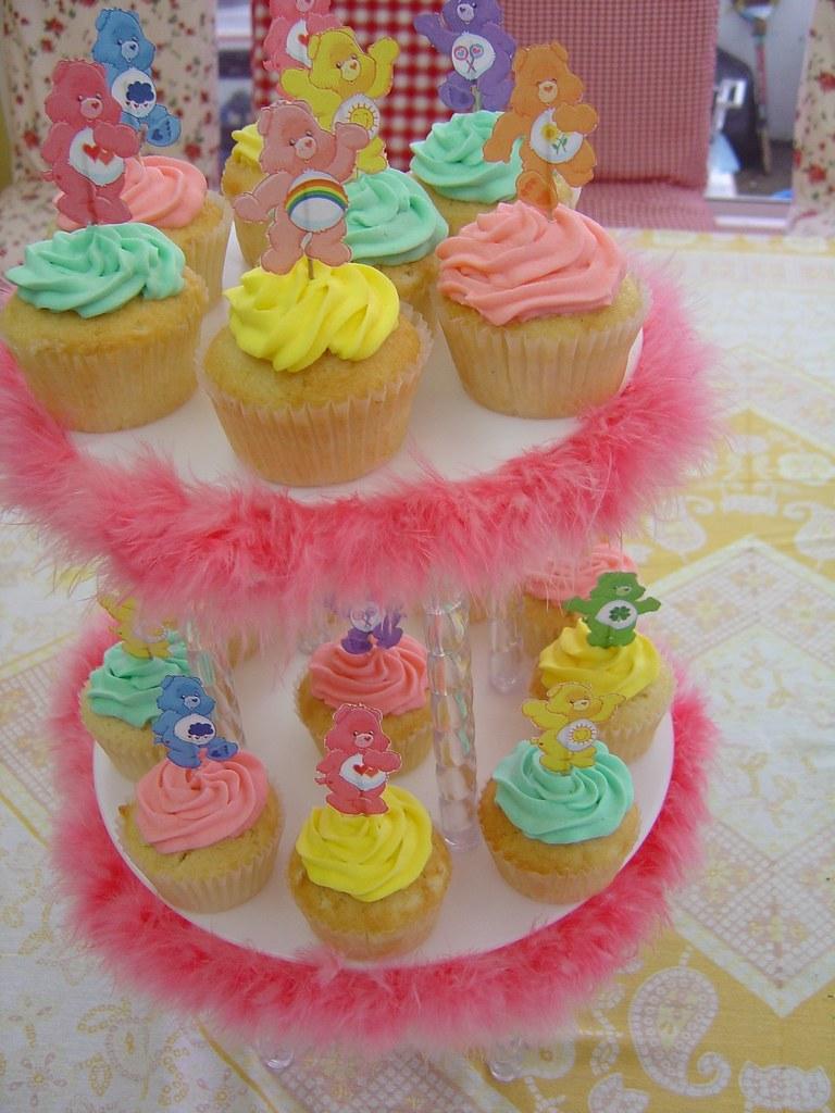 Excellent Carebears Birthday Cupcake Tower Yumi Castrillo Flickr Birthday Cards Printable Benkemecafe Filternl