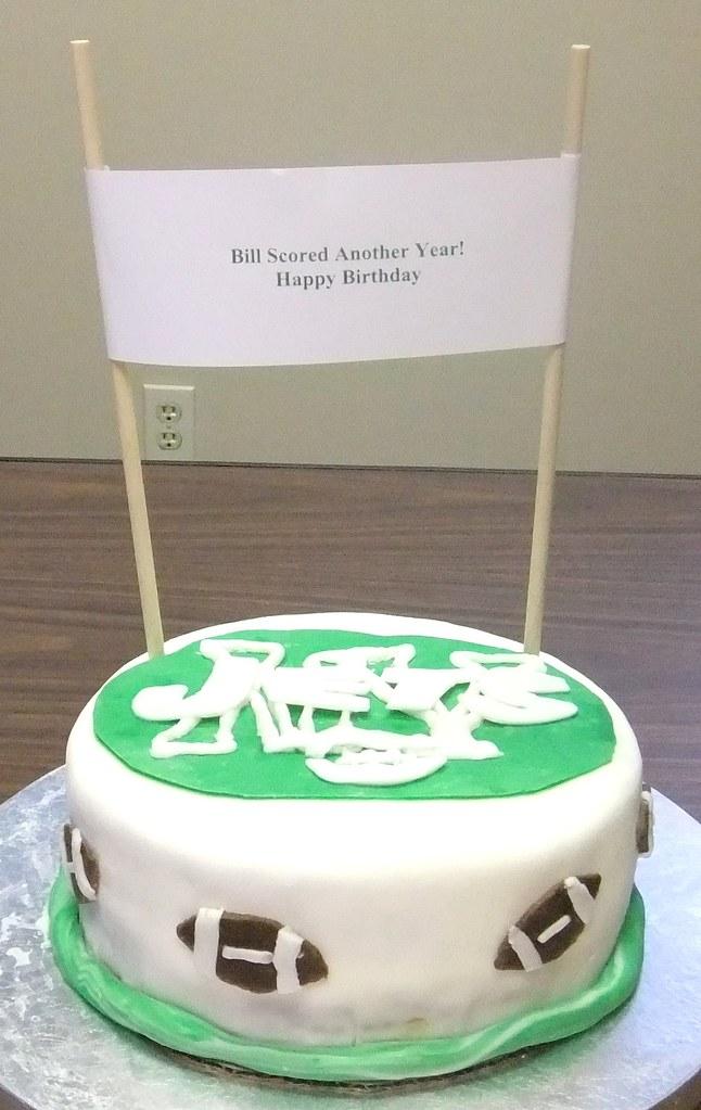 Sensational Ny Jets Birthday Cake A Co Worker Had A Birthday And He Ju Flickr Funny Birthday Cards Online Amentibdeldamsfinfo