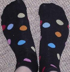 polka dot feet