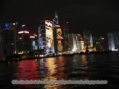 Hong Kong skyline noturno ano novo