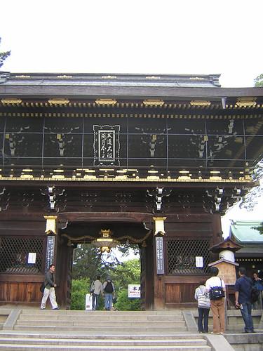 北野天満宮の門の画像
