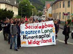 Marburg: Demo gegen Studiengebühren