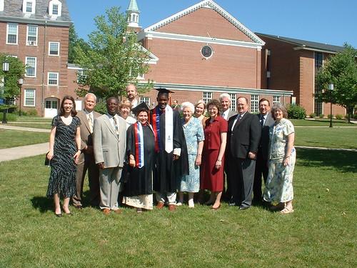 group shot at Abson & Lara's graduation