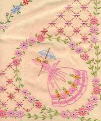Pink Crinoline Lady