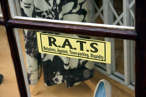 Unsubtle Sign in Stratford Shop window