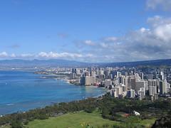 Waikiki and South Coast From Diamondhead