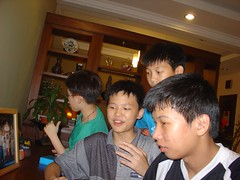 With cousins