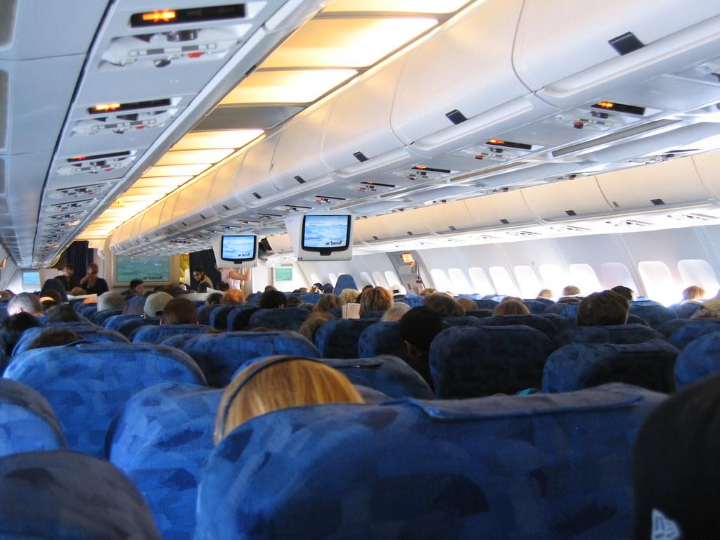 Air Transat Interior Interior Of Air Transat A330 Flickr