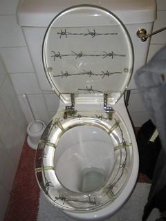 Admirable Barbedwire Toilet Seat When I Went Up North Recently I Sa Creativecarmelina Interior Chair Design Creativecarmelinacom