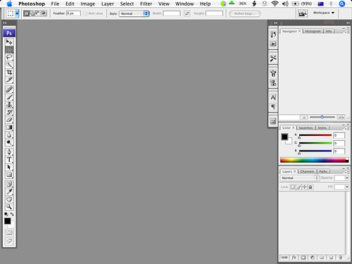 Photoshop CS3's default interface | Started my 30 day trial … | Flickr