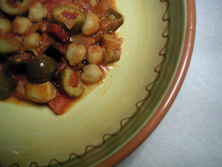 Green Olive and Chickpea Tagine