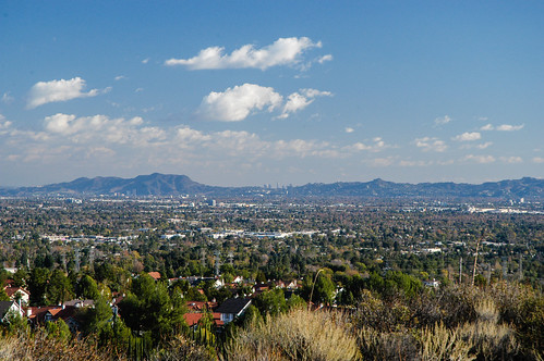 San Fernando Valley and Downtown Skyline | by Snap Man