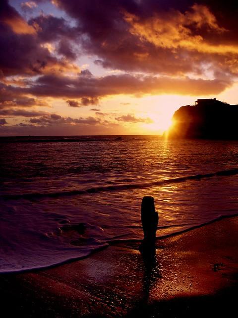 Sunset at Freshwater Bay, Isle of Wight, UK