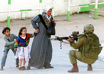 Palestinian kids with their mother!