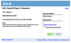AOL does support OpenID! | by factoryjoe