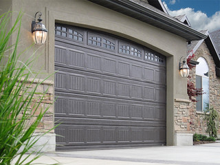 Garage Doors Grooved Dark Brown Color | by carywaynepeterson
