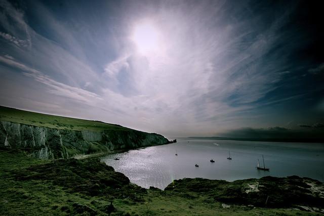 Wight Landscape - Cirrostratus over Alum bay, Isle of Wight