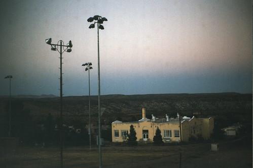 dusk night sunset baseball baseballfield school yellow vintage clarkdale clarkdaleaz az arizona argusc3 argus vintageargus vintagecamera 35mm film verdevalley verdevalleyaz verdevalleyarizona clarkdalearizona ellenjdroberts ellenjoroberts ejdroberts ellenjocom