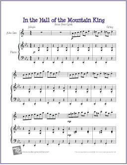 image about Free Printable Alto Saxophone Sheet Music identified as Within just the Corridor of the Mountain King (Grieg) Totally free Simple Alto