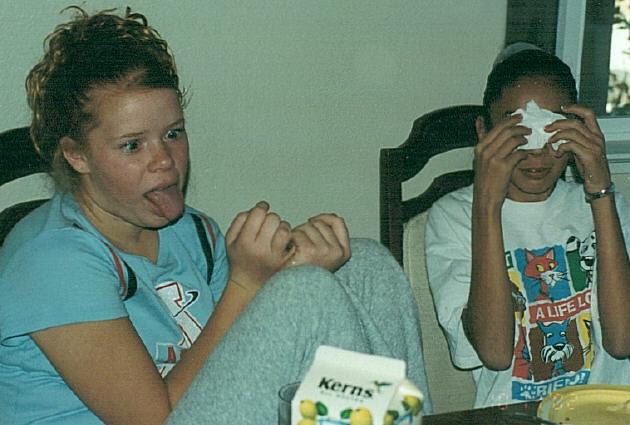Melissa and Lauren 2002
