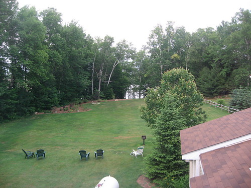 me yard backyard view chairs lawn maine wilton whisperingpines whisperingpinesmotel