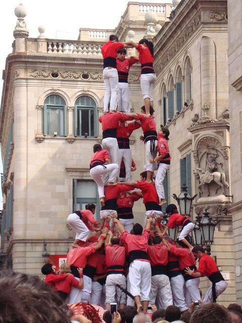 Castellers rossi