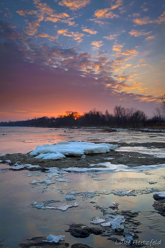 trees sunset snow ice water rock clouds river geology maumeeriver lucascountyohio watervilleohio