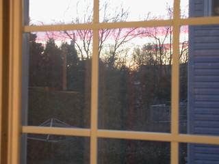 Sunset through the kitchen window