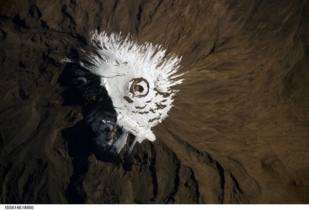 Mount Kilimanjaro, Tanzania (NASA, International Space Station Science, 04/03/07)