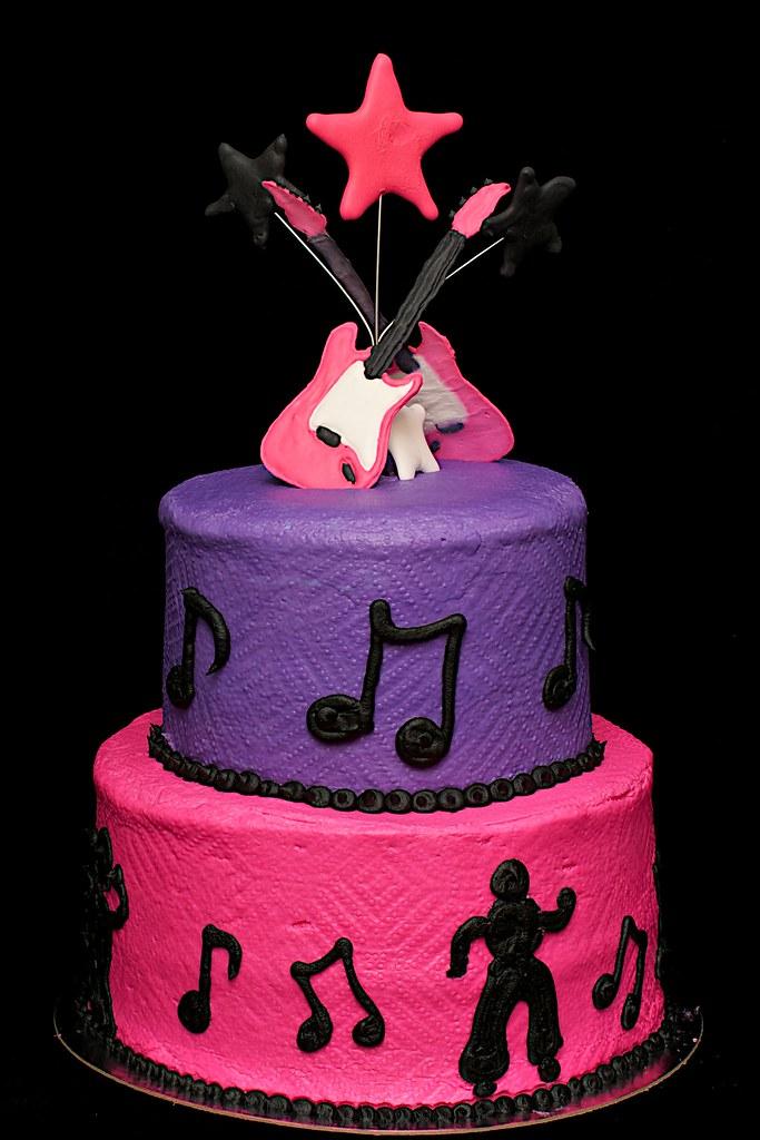 Swell Rockstar Birthday Cake Rockstar Cake Lisa Stephens Flickr Funny Birthday Cards Online Kookostrdamsfinfo