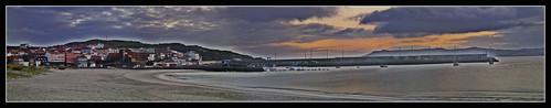 panorama beach sunrise hdr laxe caese