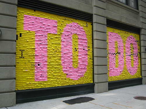 To Do public art in Dumbo | by @superamit
