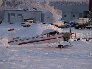 Cessna 185 on skiis