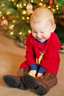 Chuffed with his new boots