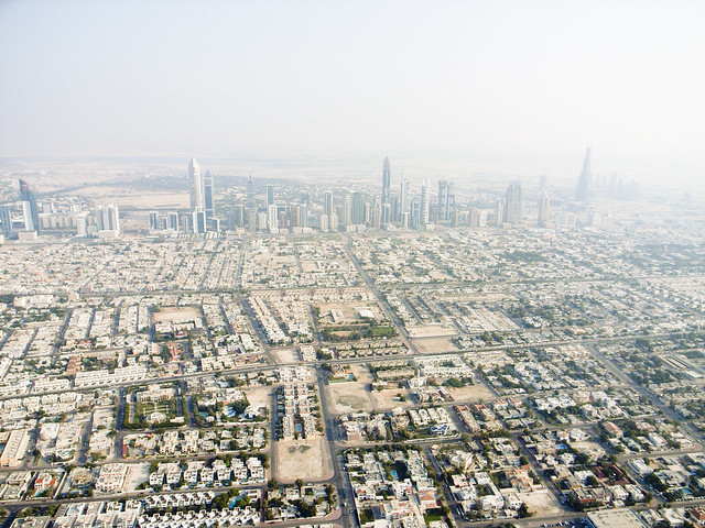 Dubai City Aerial View 3