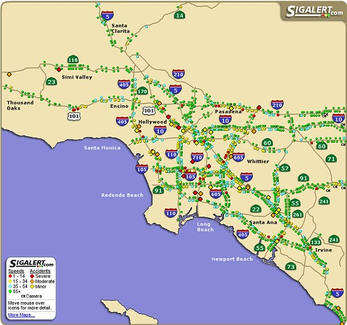 Sigalert | Traffic report for L A  from sigalert com right a