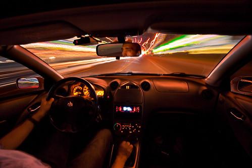 longexposure streets car night driving tulsa peoria celica brookside