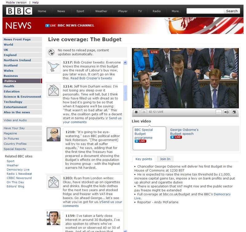 BBC News Budget Live Coverage